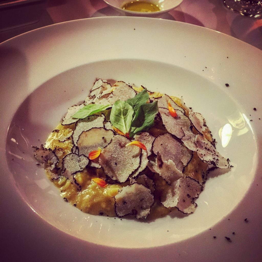 Risotto with truffle shavings