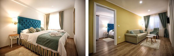 Our suite - € 95, but could accommodate 4 people