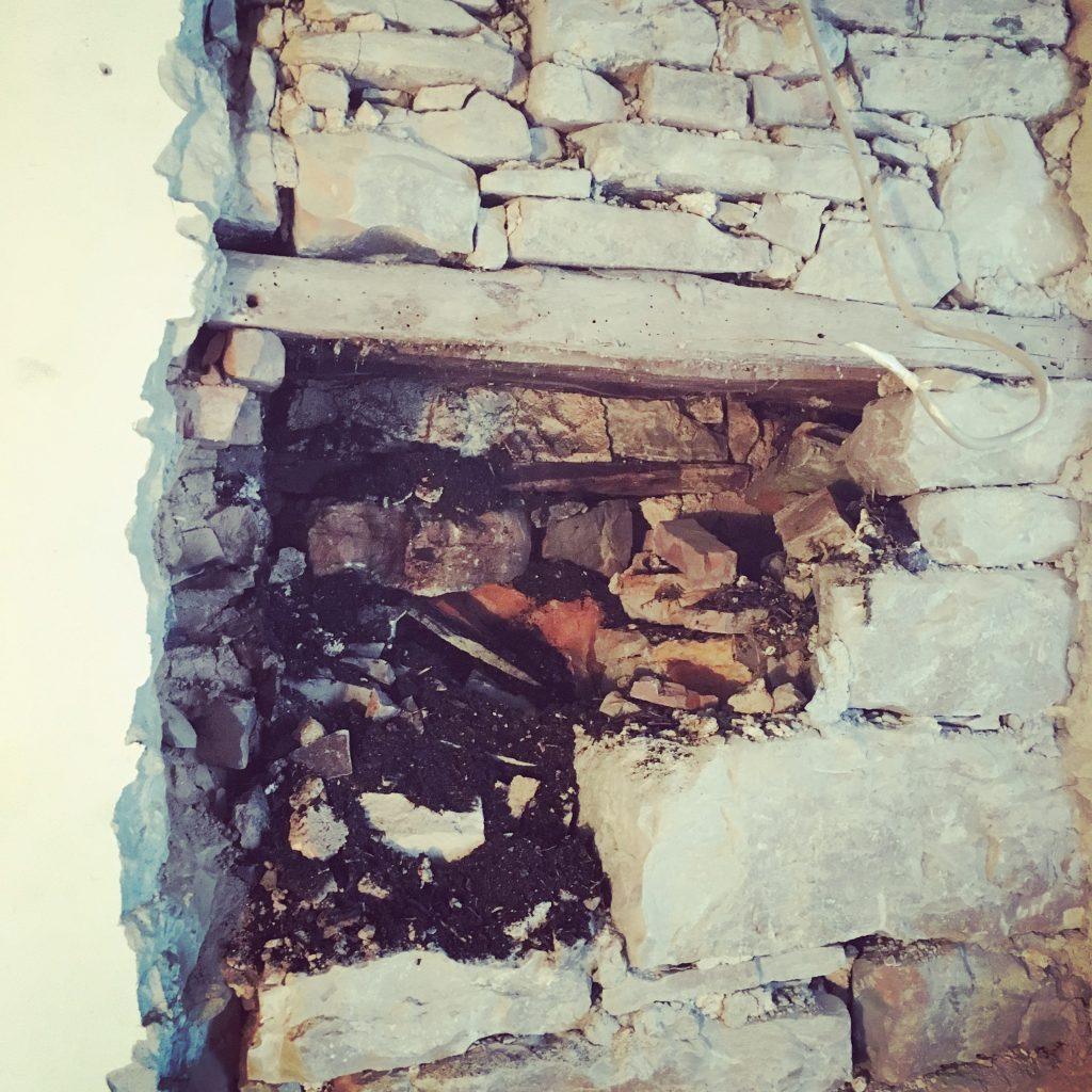 Exposing the original internal chimney