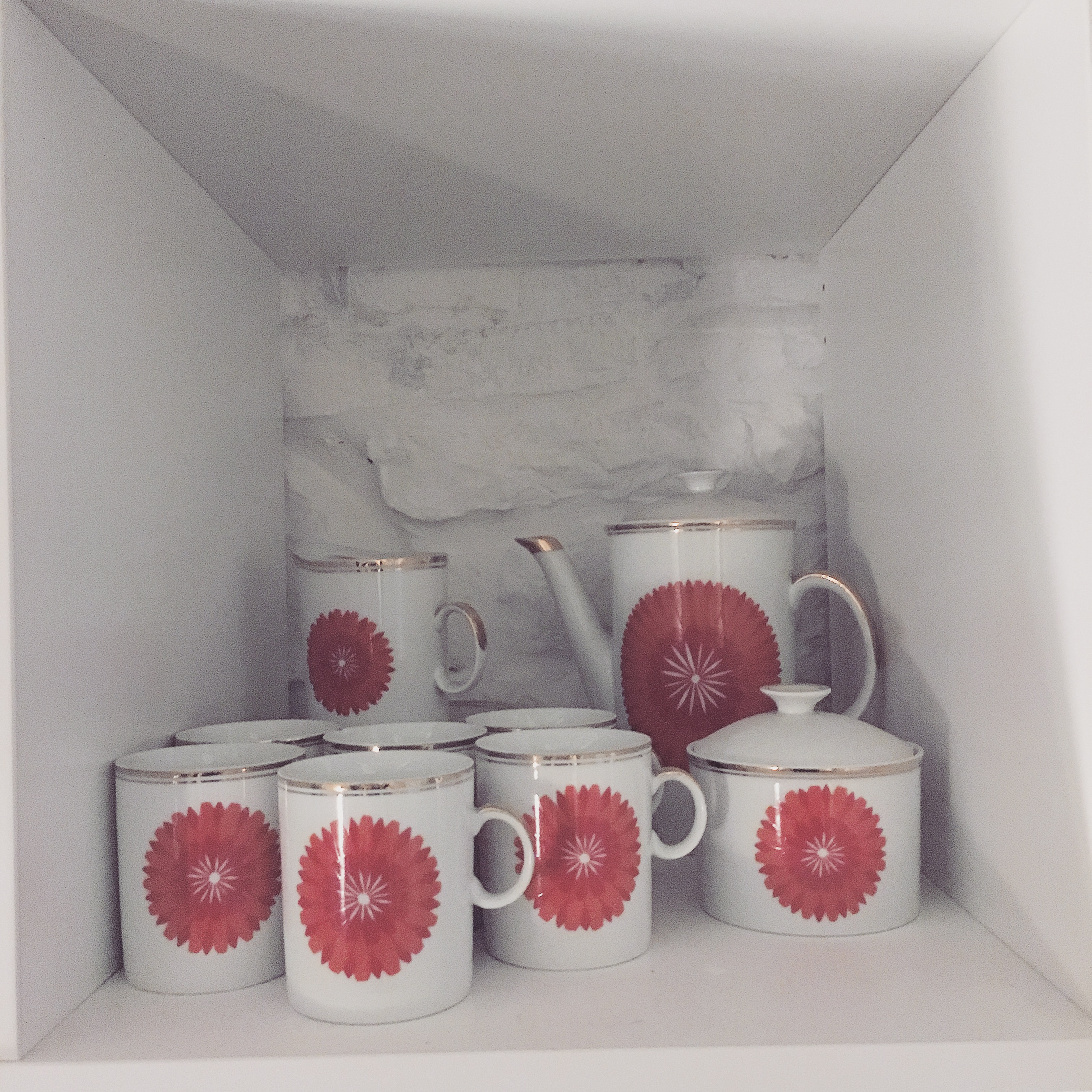 Our very, very special original 1960s (now retro) coffee set, which was origianlly a wedding present..
