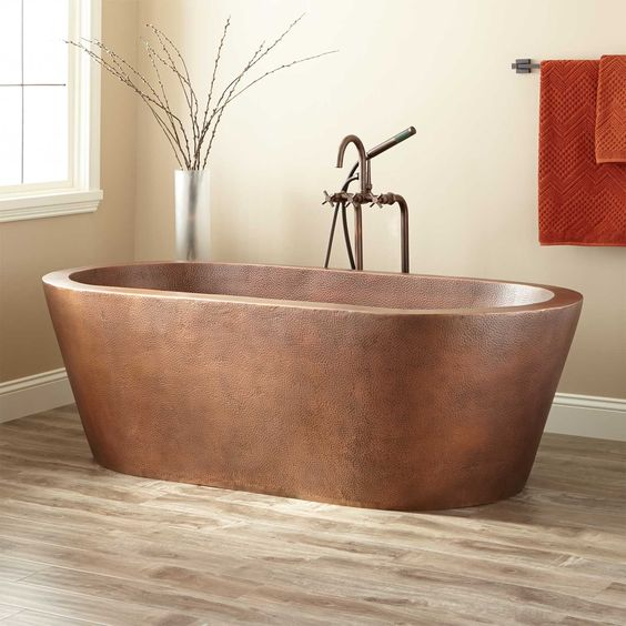 Free standing bath - ❤️ copper - on the wishlist...
