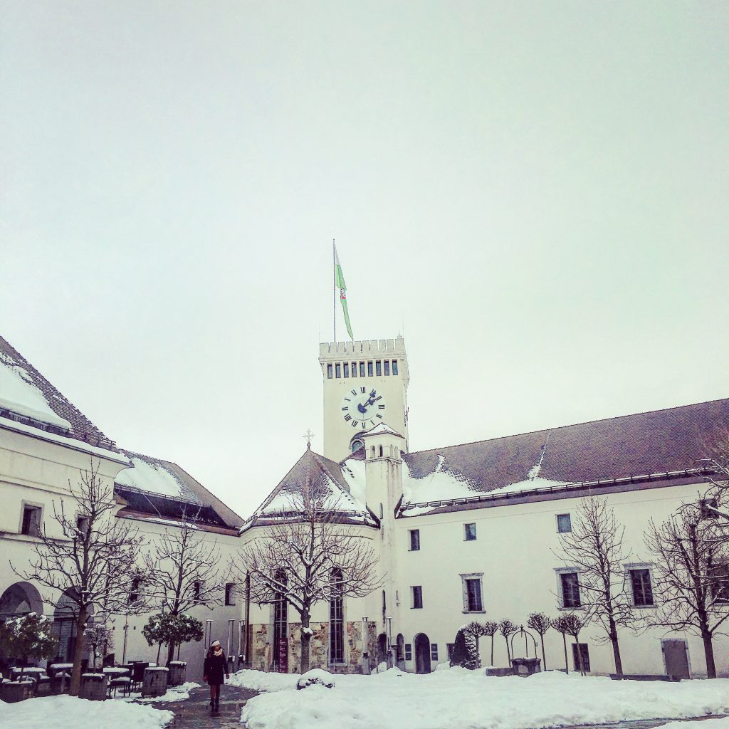 Ljubljana Castle in the snow...