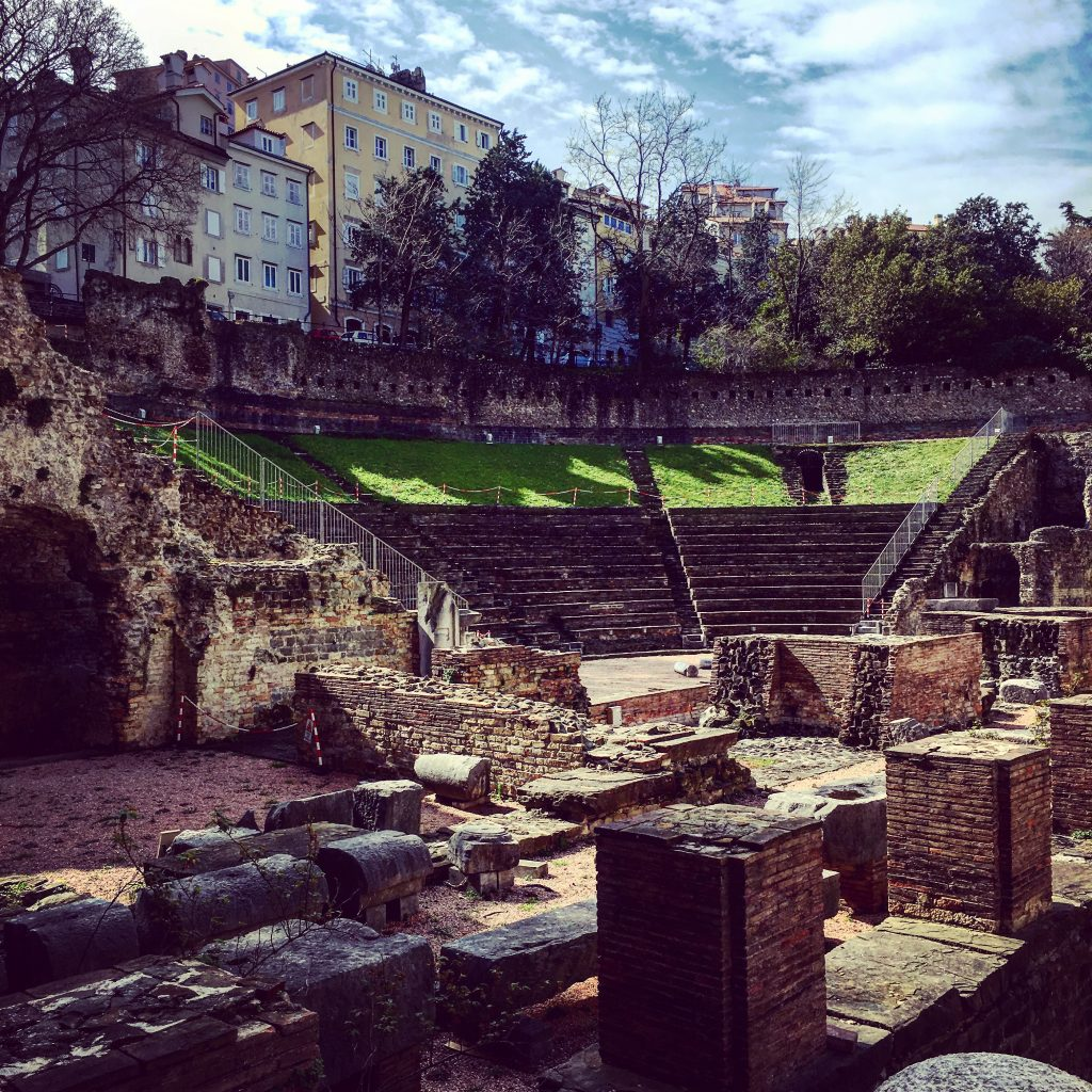 Just an ampitheatre. In the middle of Trieste.