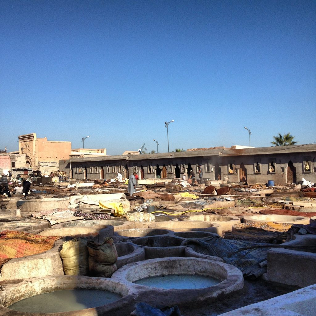 The Marrakech Tanneries.