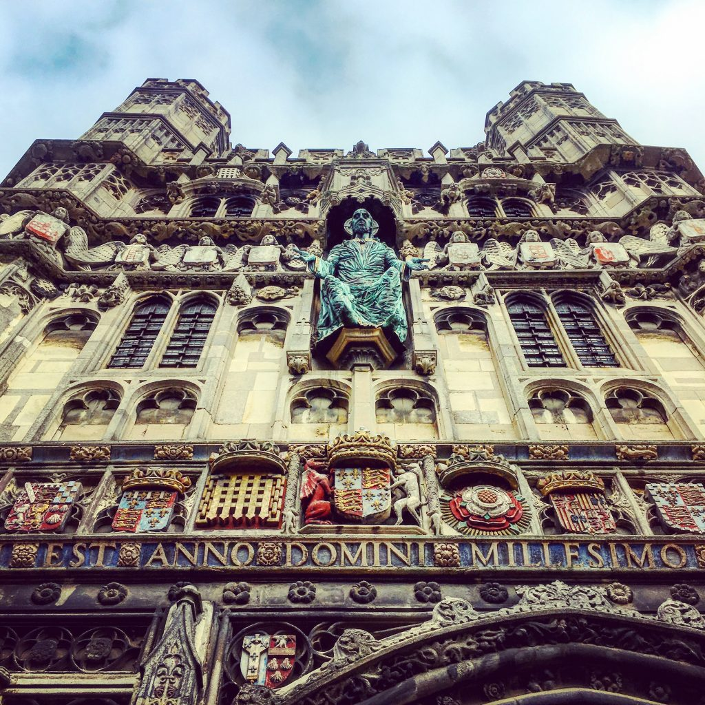 An impressive entrance into the grounds of Canterbury Cathedral