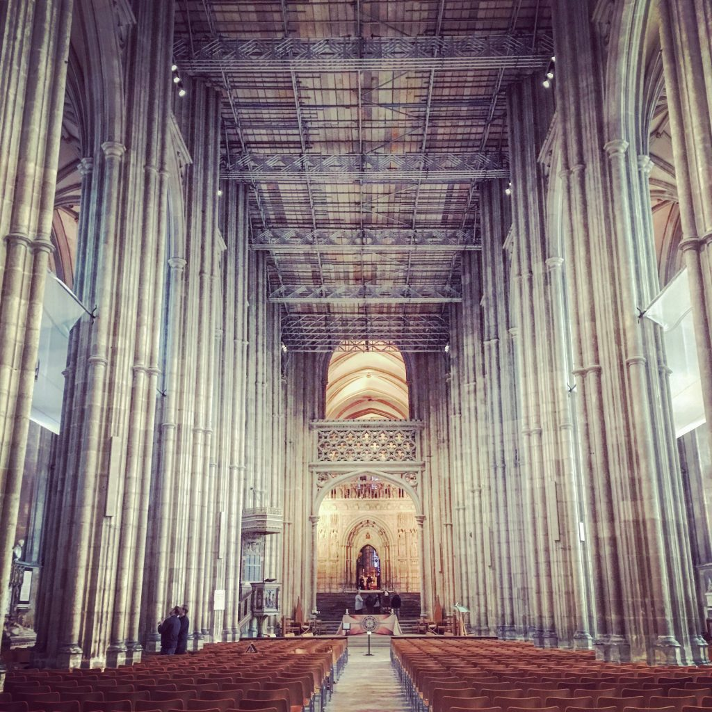 Even with renovation work being carried out, this is one impressive interior...