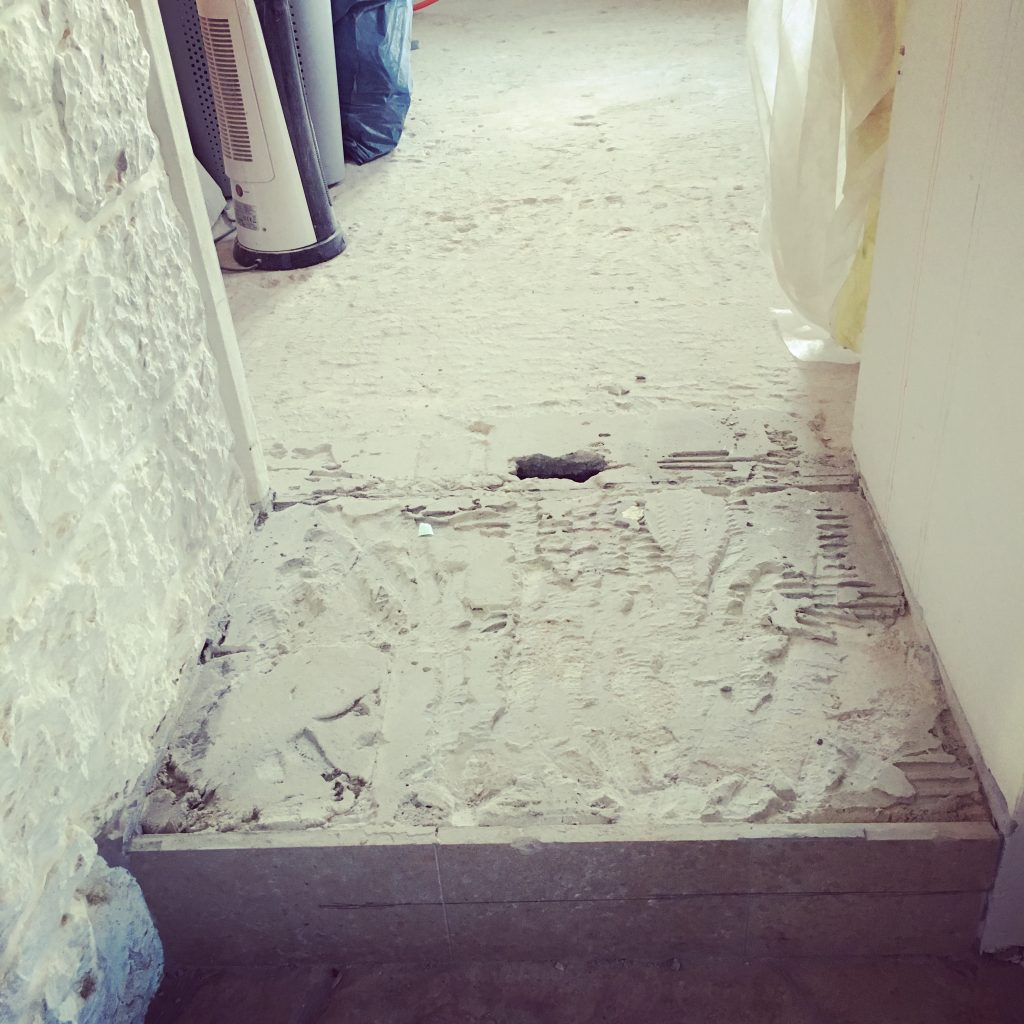 New stepped entrance into kitchen
