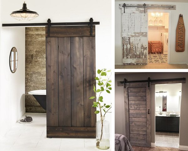 All wooden - with the plus point of more privacy...