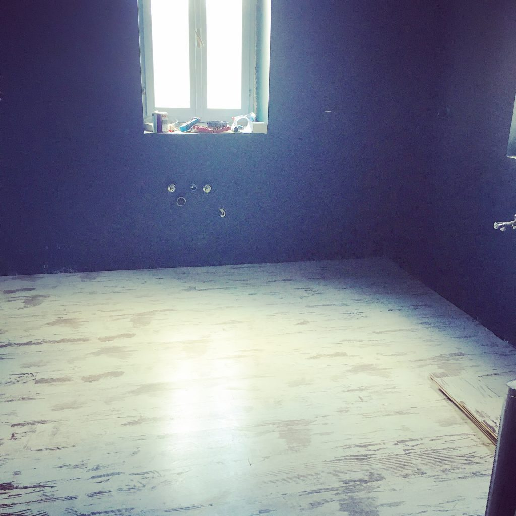 Five months on, and new flooring starting to be laid.