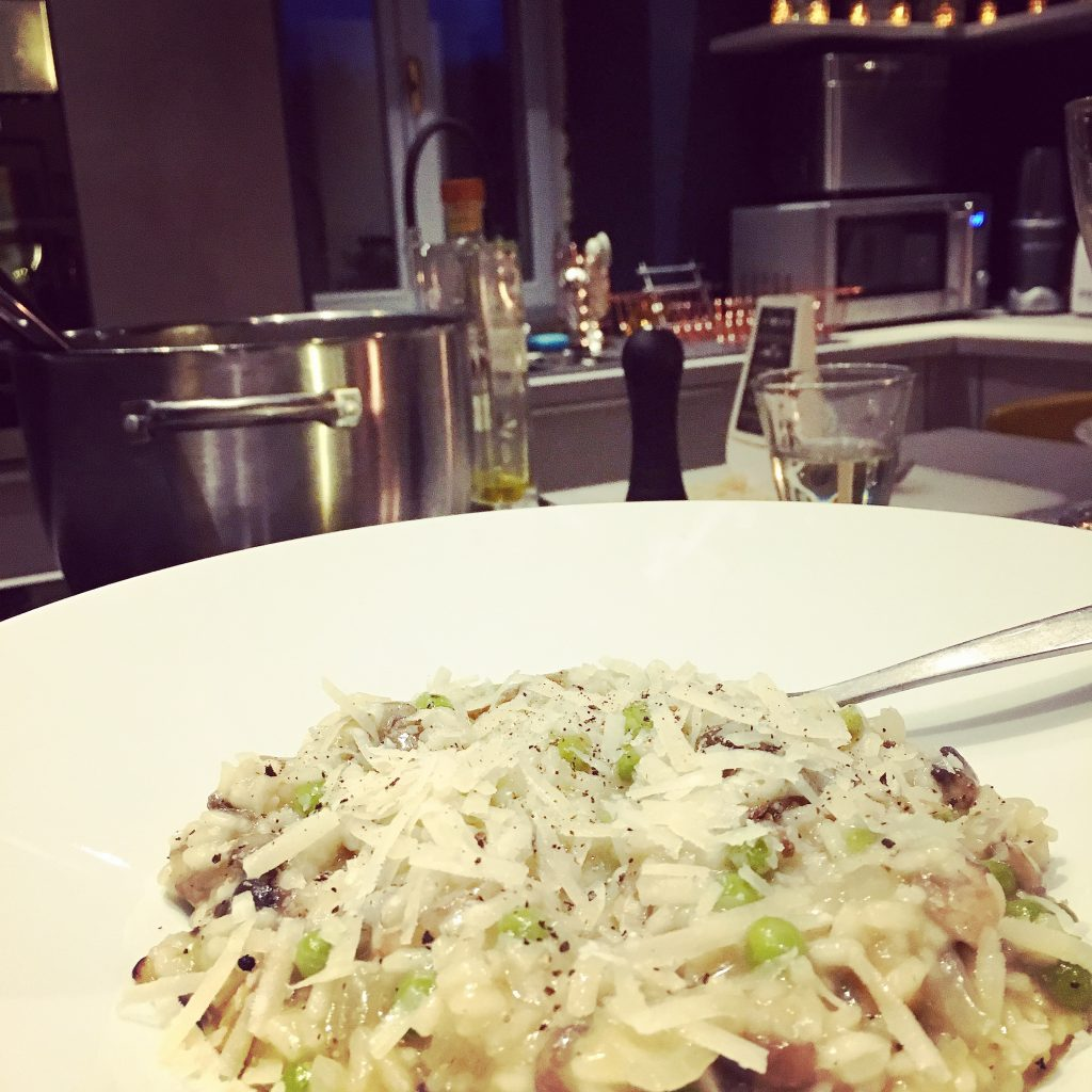 Risotto in the new kitchen...