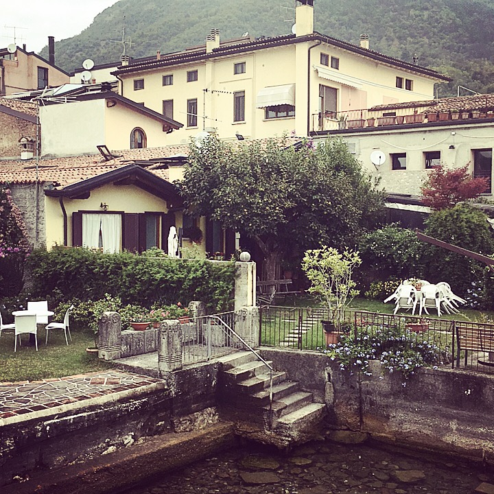 Private steps, from the front garden, down to Lake Garda