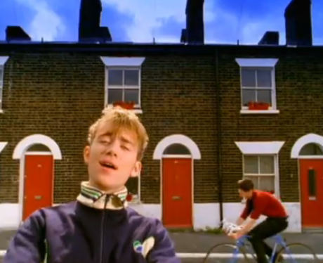 """Blur : """"Parklife"""". With red doors."""
