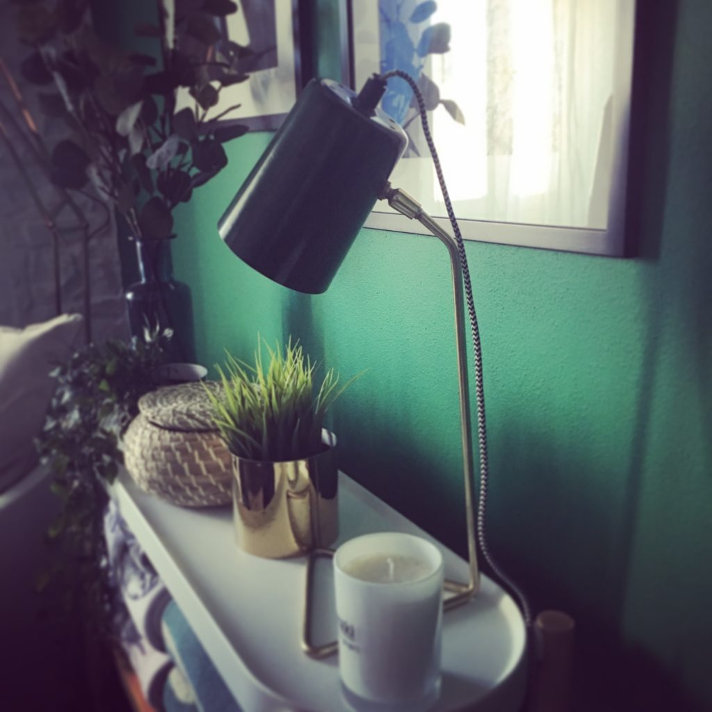 Gorgeous green angle poise lamp from TK Maxx, Graz, Austria