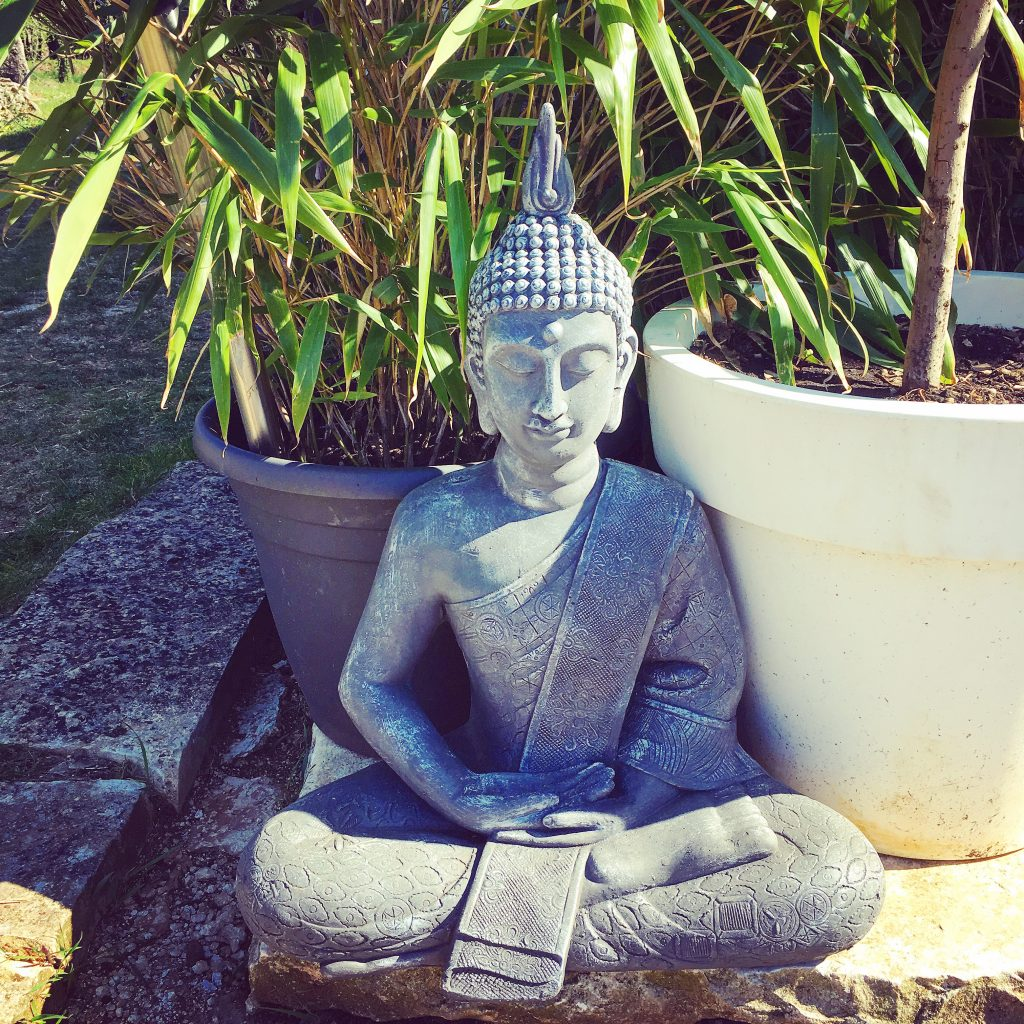 The Buddha in the bamboos....
