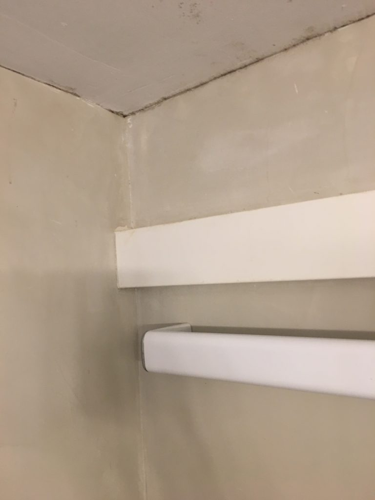 The shower cubicle...