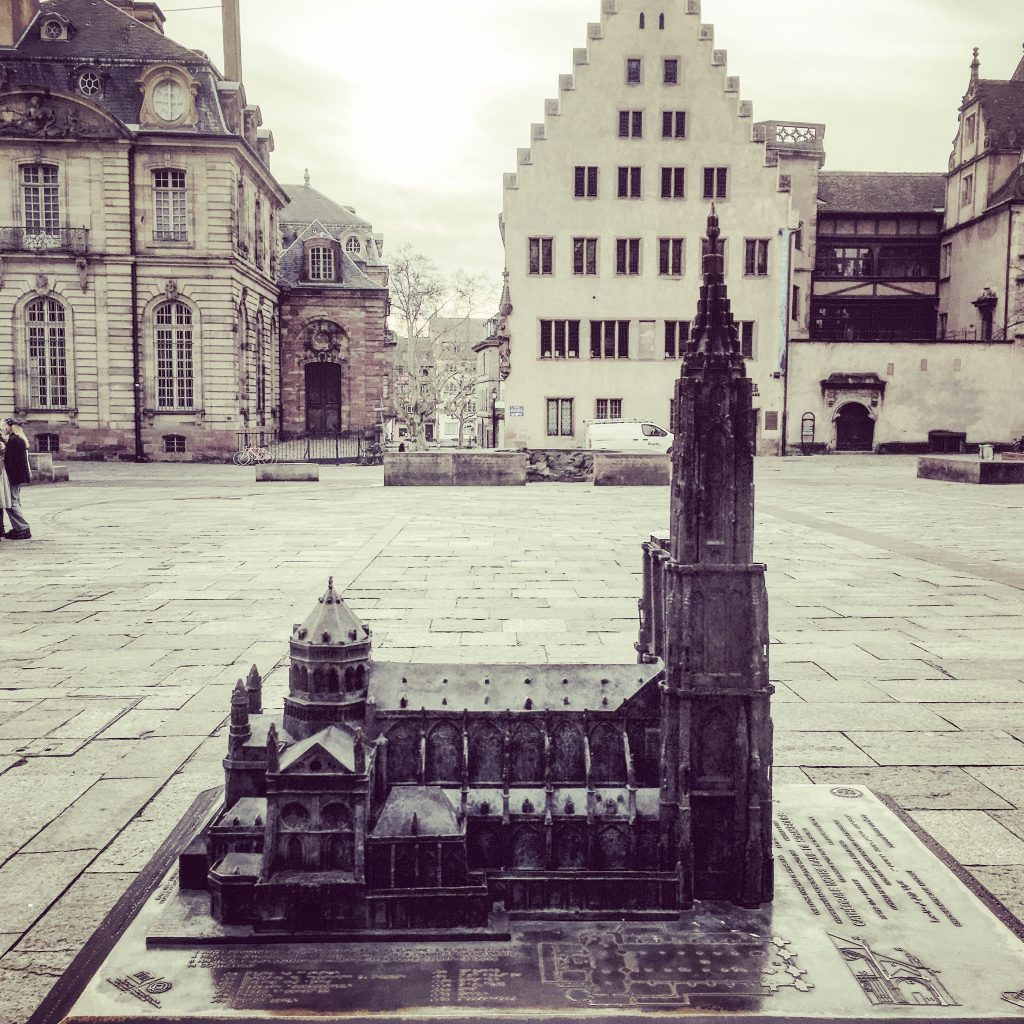 The Cathedral, in miniature, in front of the Cathedral.